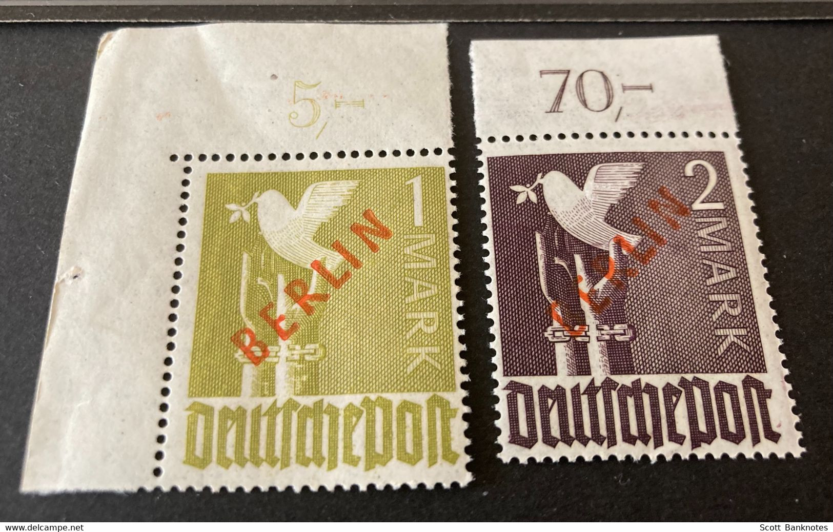 BERLIN 1949 Unused Stamps Extra Paper - Unused Stamps