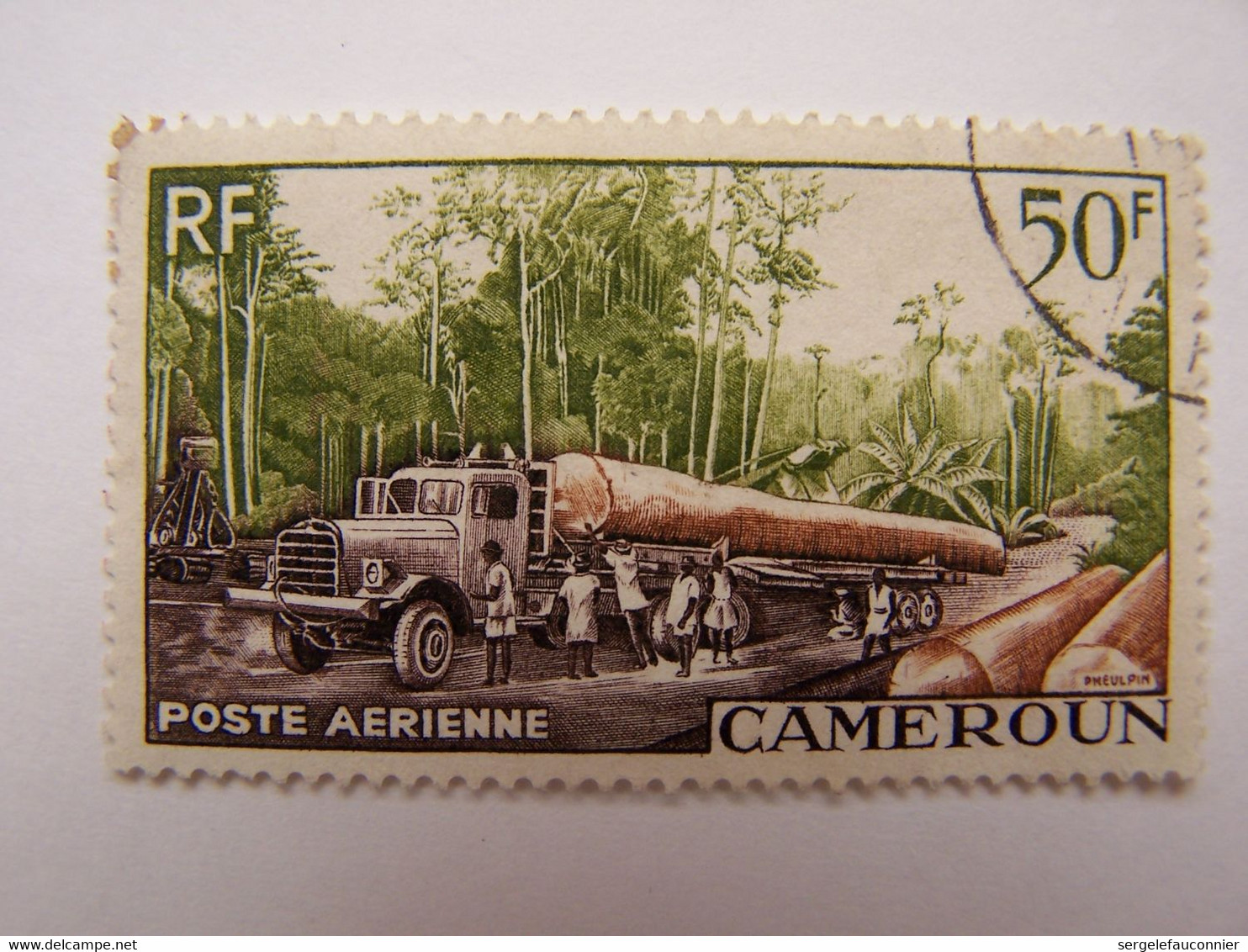Cameroun 1955 Oblitéré Le Transport De Bois - Usati