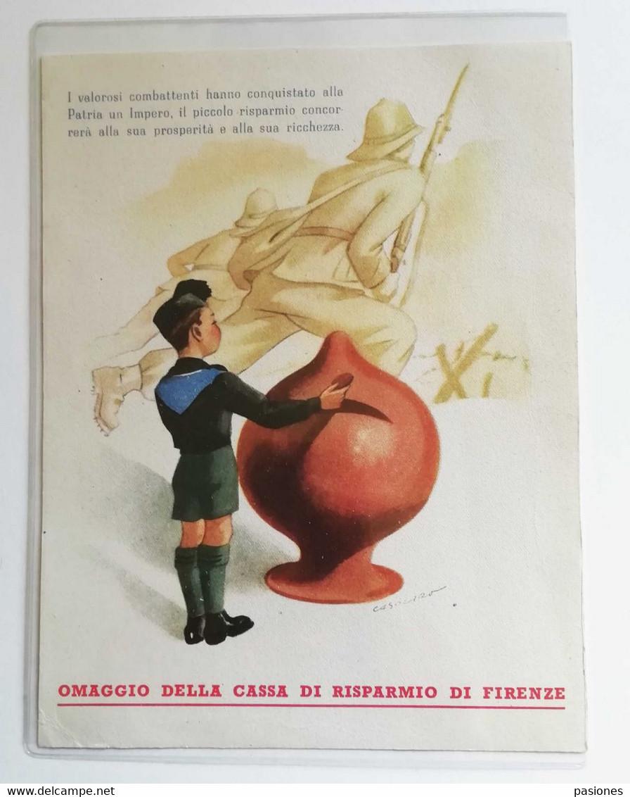 Cartoncino Omaggio Della Cassa Di Risparmio Di Firenze - Publicidad
