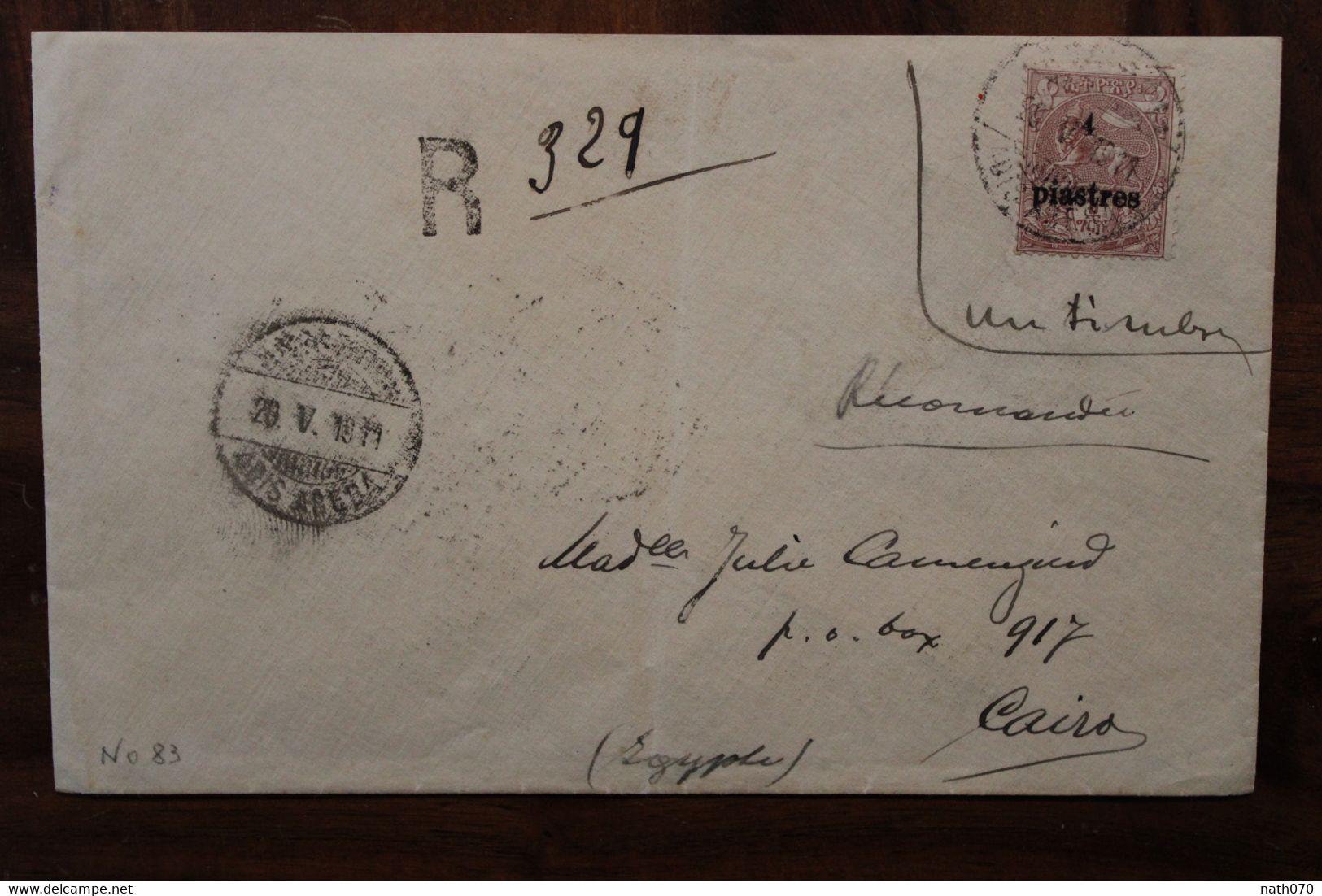 Ethiopie 1911 Ethiopia Adis Abeba Cover Colonie Entier Imprimé Äthiopien Etiopia Egypt Recommandé Registered Port Tauriq - Ethiopia