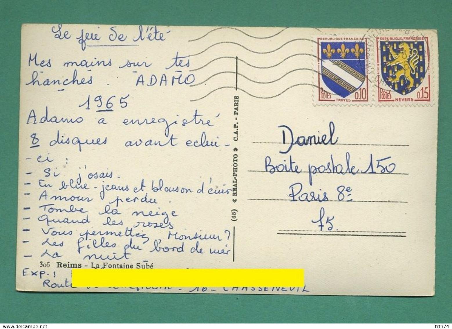 51 Reims La Fontaine Subé 1966  CPSM  9 X 14 Cm - Reims