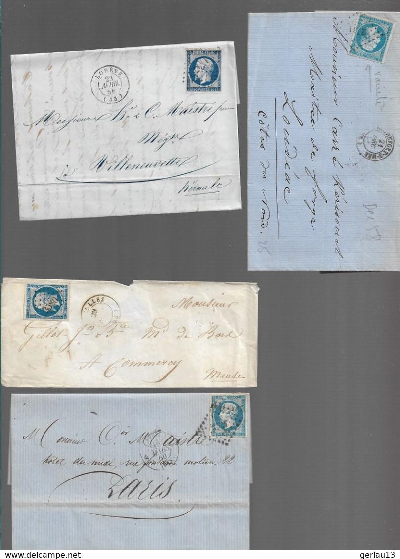 LOT  4 LETTRES ANCIENNES - 1849-1876: Periodo Clásico