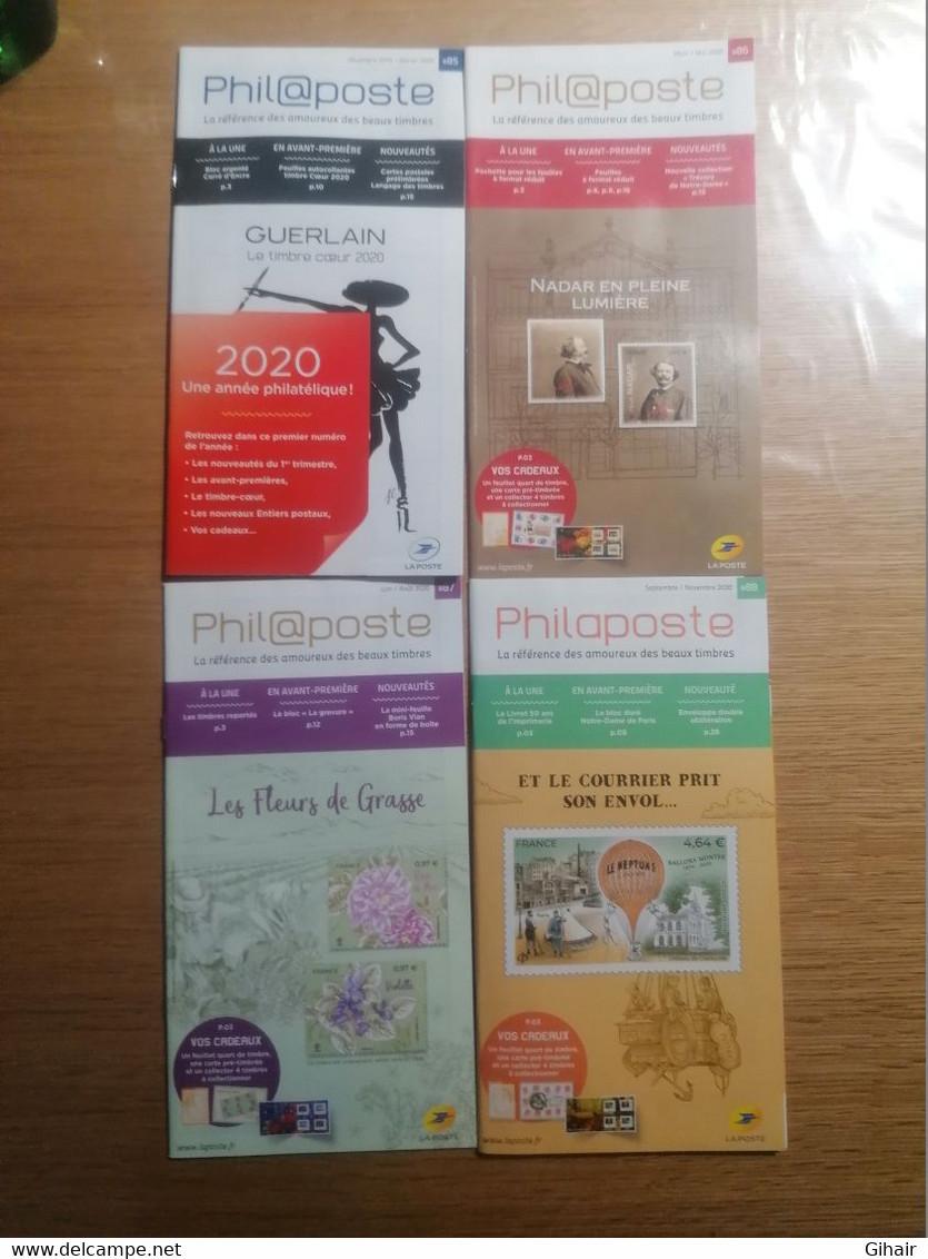 Catalogues Philaposte 85 / 86 / 87 / 88, Décembre 2019 / Novembre 2020 - Catalogues For Auction Houses
