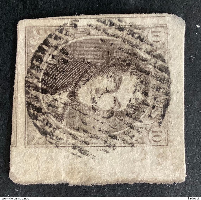Medaillon 6 - 10c Gestempeld P78 MALINES - 1851-1857 Médaillons (6/8)