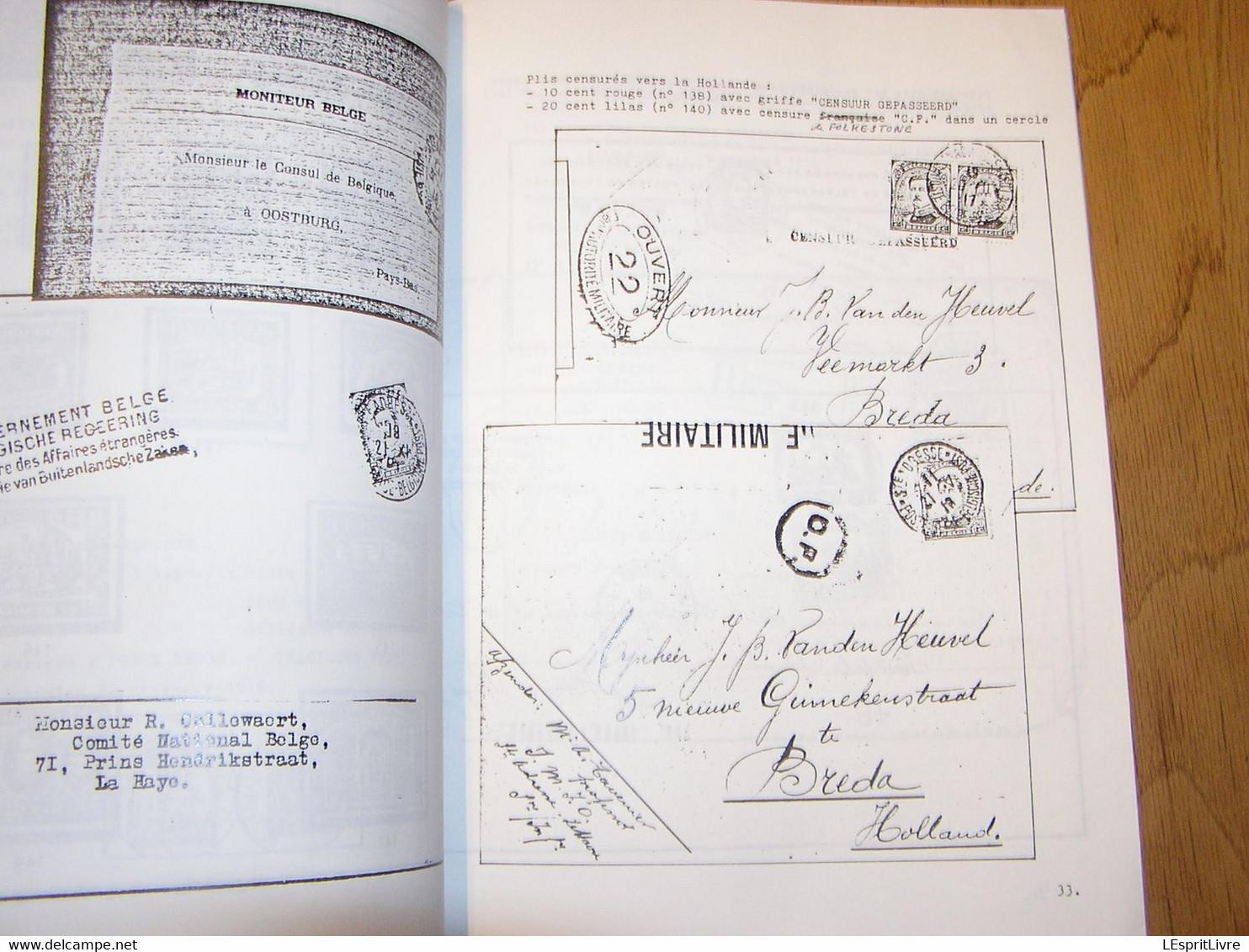 SAINTE ADRESSE Capitale De La Belgique 1914 1918 Guerre Histoire Marcophilie Philatélie Cachets Timbres Bateau Paquebot - Otros Libros