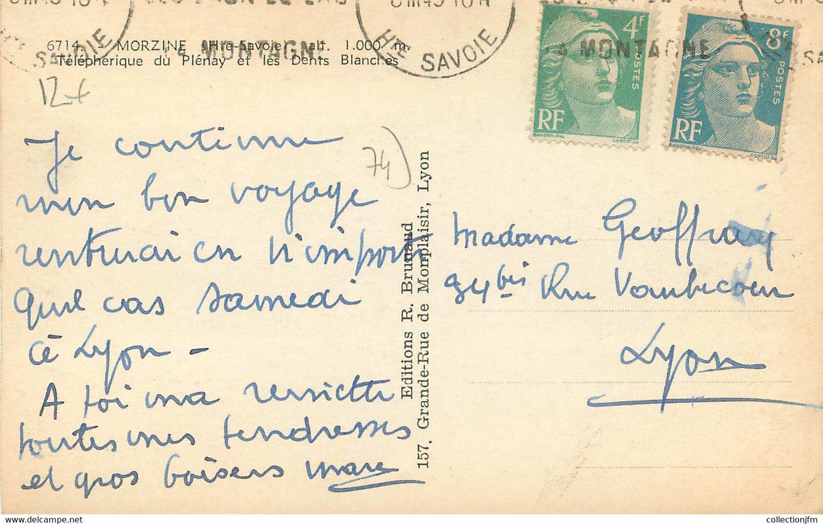 """.CPSM FRANCE 74 """" Morzine, Téléphérique Du Plenay"""" - Morzine"""