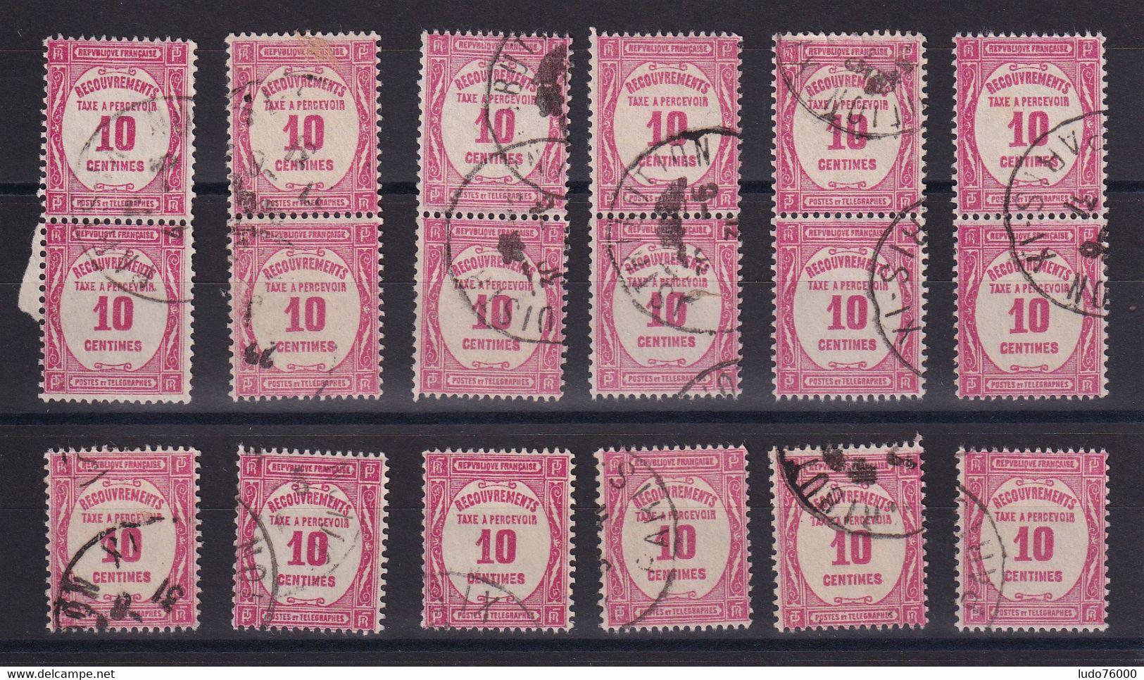 D 159 / TAXE /  LOT N° 56 OBL - Verzamelingen