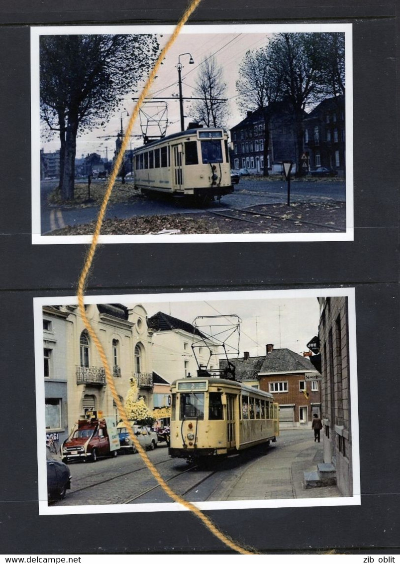 2 PHOTO  TRAM 2 MONS CUESMES FRAMERIES EUGIES WASMES DOUR REPRO - Mons