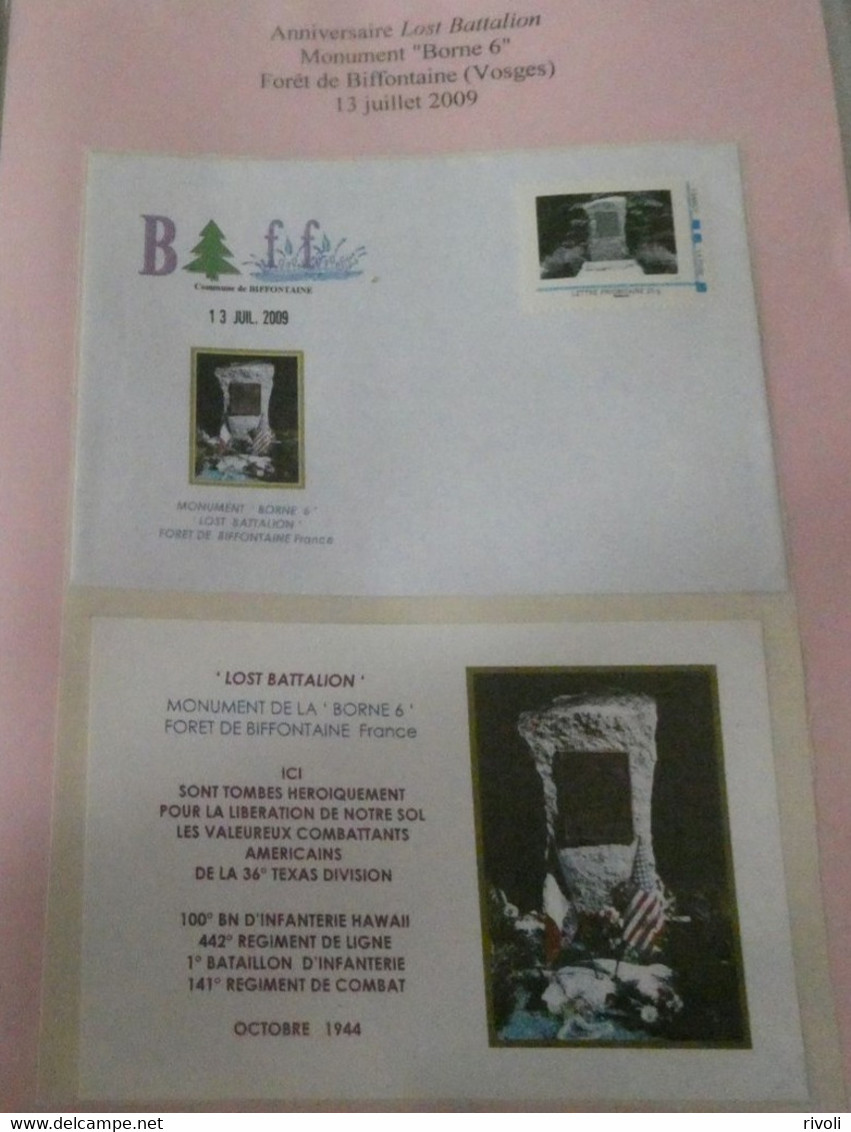 FRANCE  - LOST BATTALION MONUMENT BORNE 6 FORET DE BIFFONTAINE - Seconda Guerra Mondiale