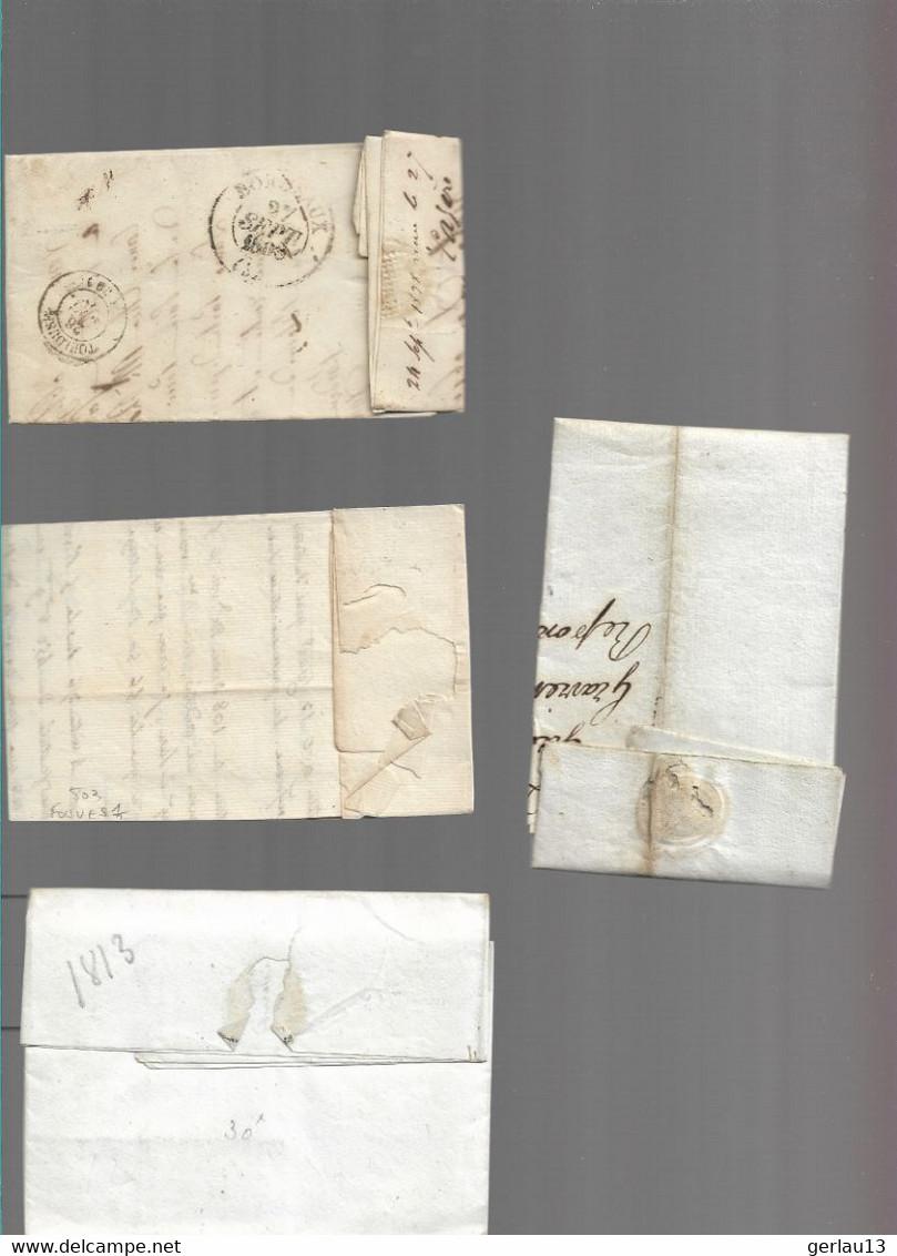 LOT    4  MARQUES POSTALES     2 SCANS - 1801-1848: Précurseurs XIX
