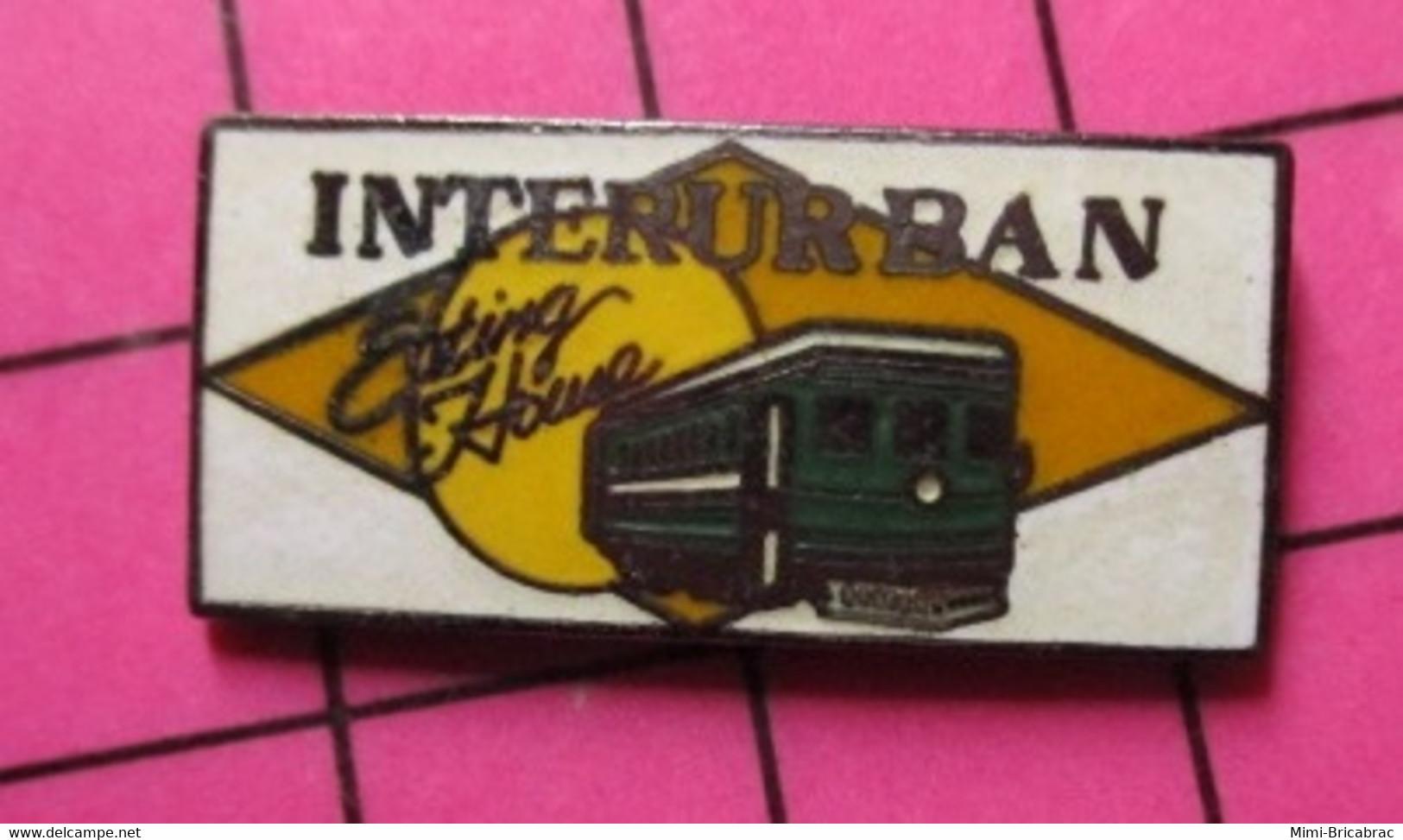 113C Pin's Pins / Beau Et Rare / THEME : TRANSPORTS / TRAMWAY USA VERT INTERURBAN EATING HOUSE - Trasporti