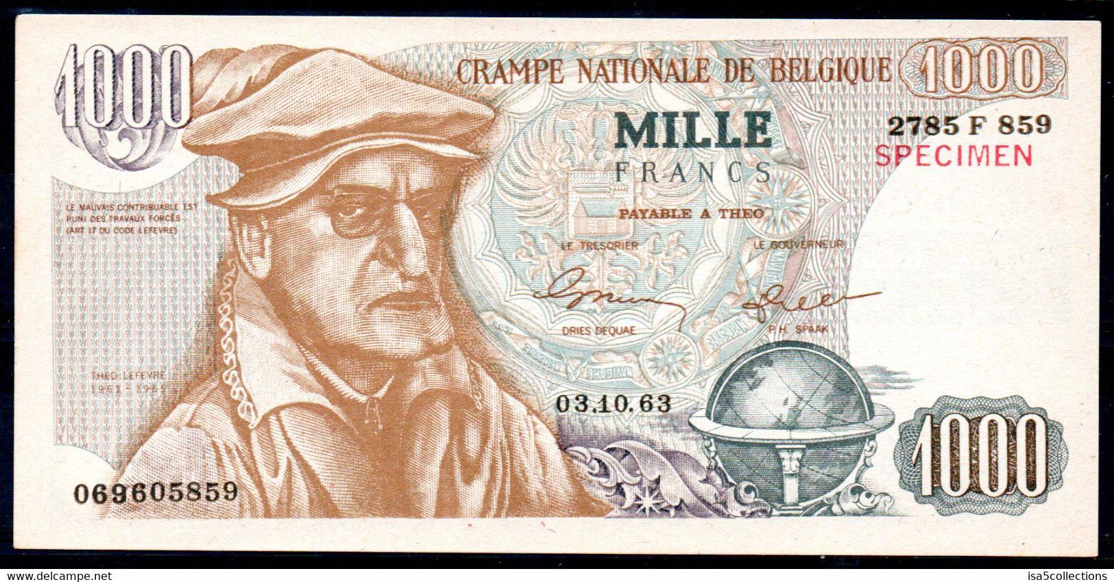1000 F Crampe Nationale - Tract Electoral PLP De 1963 - [ 8] Fakes & Specimens