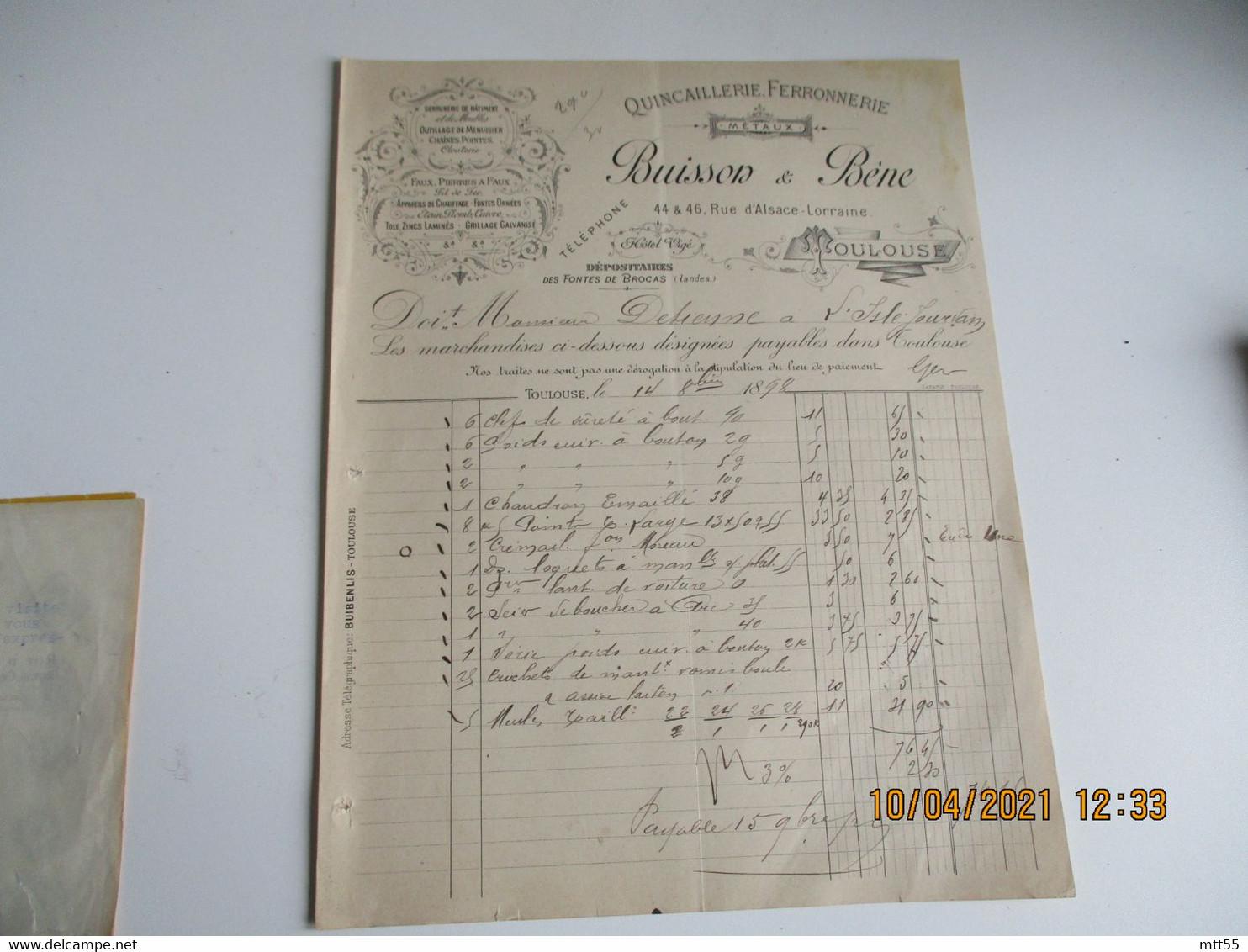 Lot De 31898 Quincaillerie Buisson Et Bene Facture - 1800 – 1899