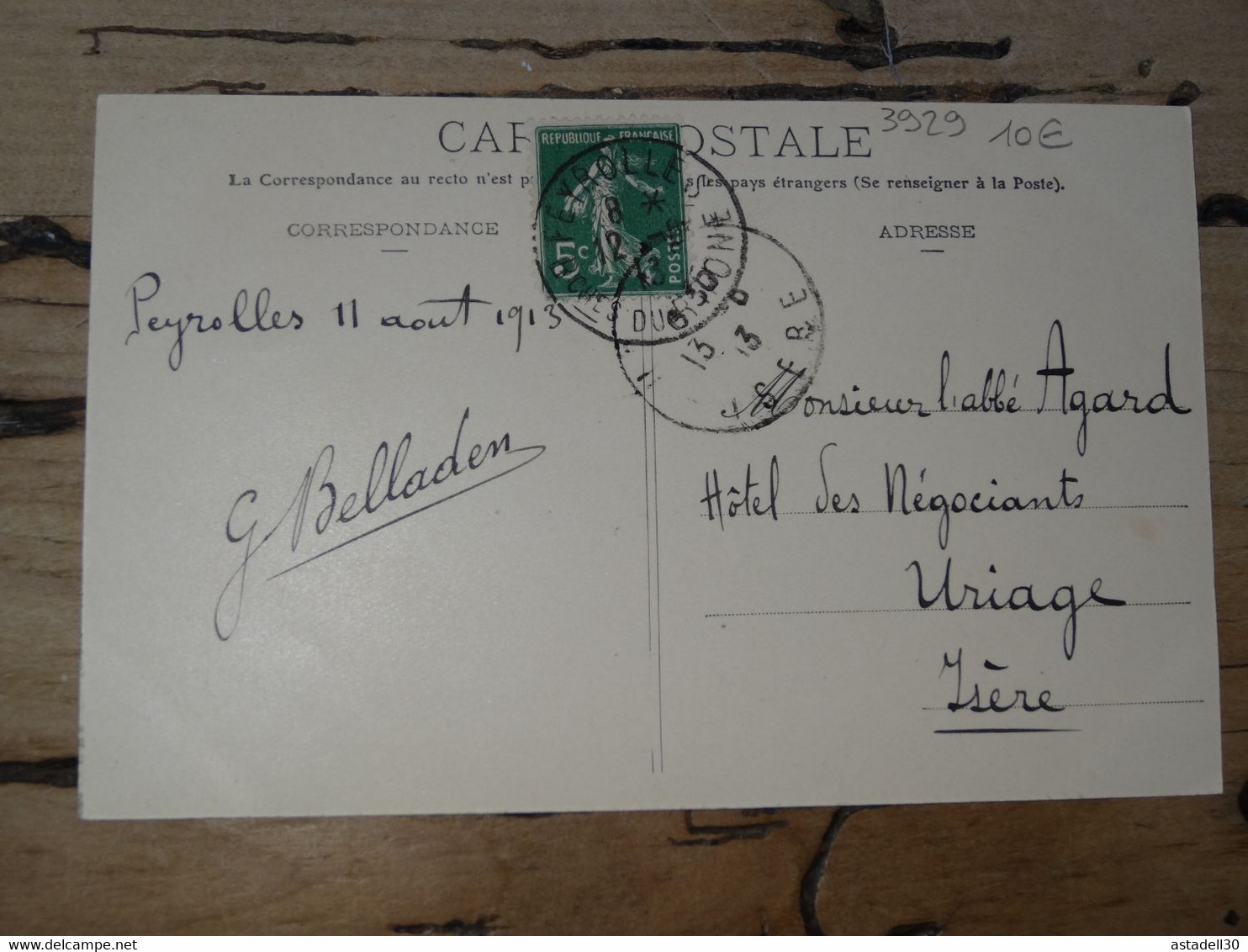 Carte Non Légendée Postée De PEYROLLES - 13 ............. 201101d-3929 - To Identify
