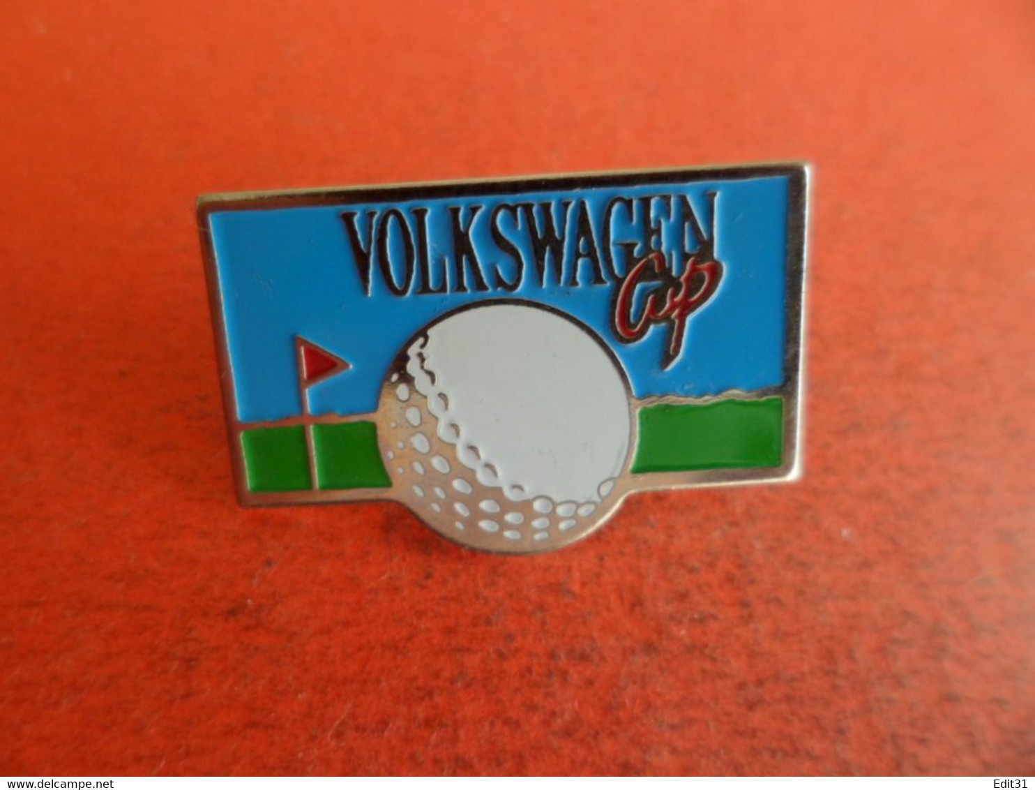 Pins Pin's émail Sport Golf - Sponsort Volkswagen Cup - - Golf