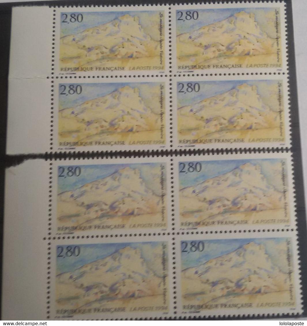 FRANCE - N° 2891 - 2 Blocs De 4 - Variété De Couleur - 2 Teintes Différentes - Curiosities: 1990-99 Mint/hinged