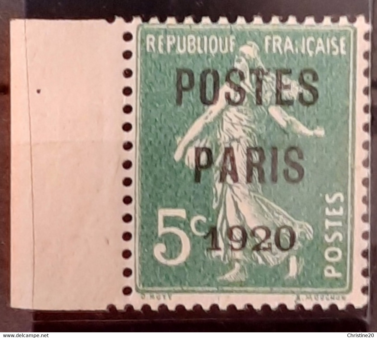 France 1920 N°24 BdF Infime Charnière * TB Cote 430€ - 1893-1947