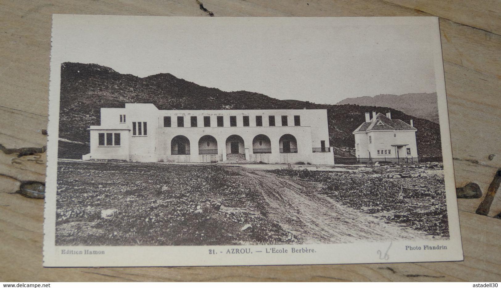 MAROC : AZROU : L'école Berbère ............. 201101d-4025 - Otros