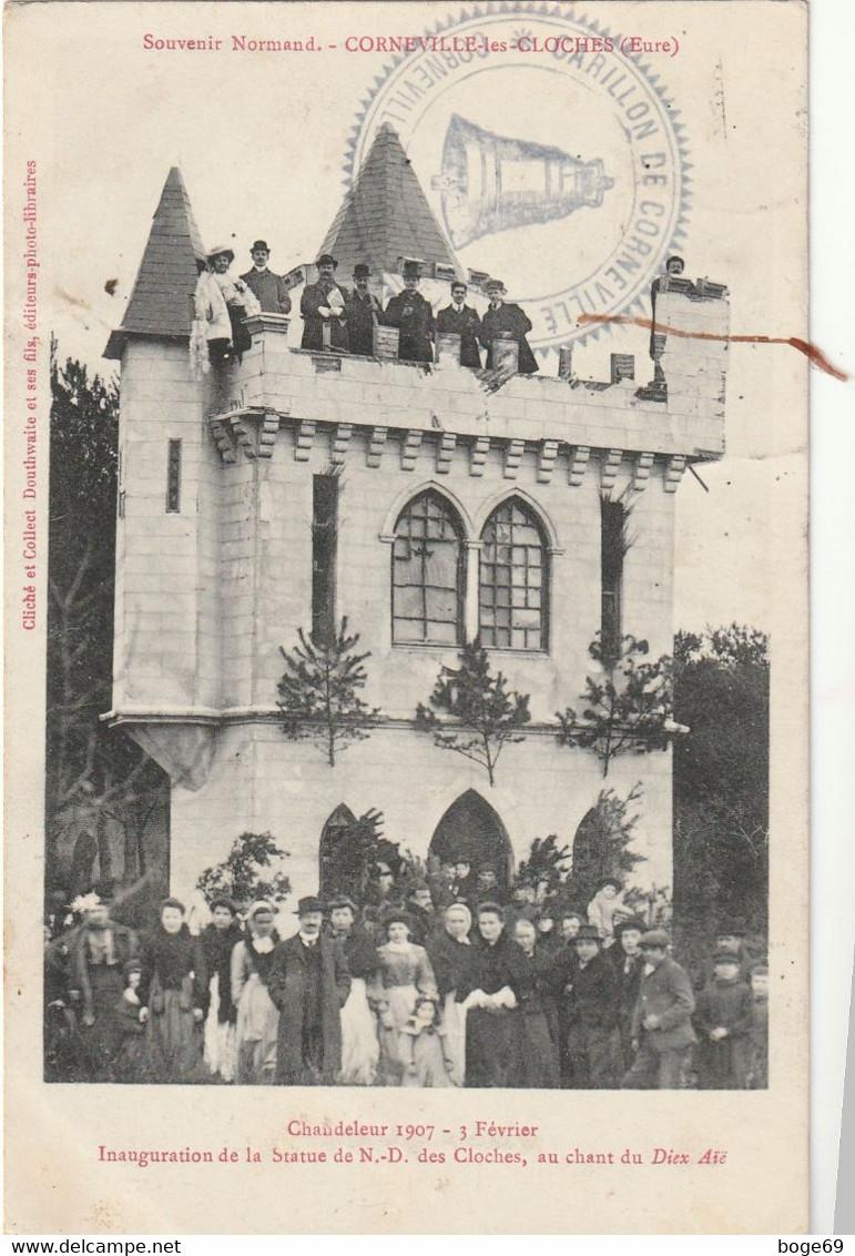 (DU 02) EURE , CORNEVILLE Les Cloches ,  Chandeleur 1907 - Autres Communes