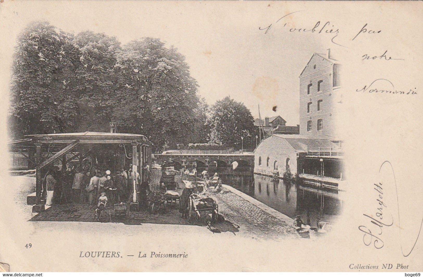 (DU 02) EURE ,LOUVIERS , La Poissonnerie - Louviers
