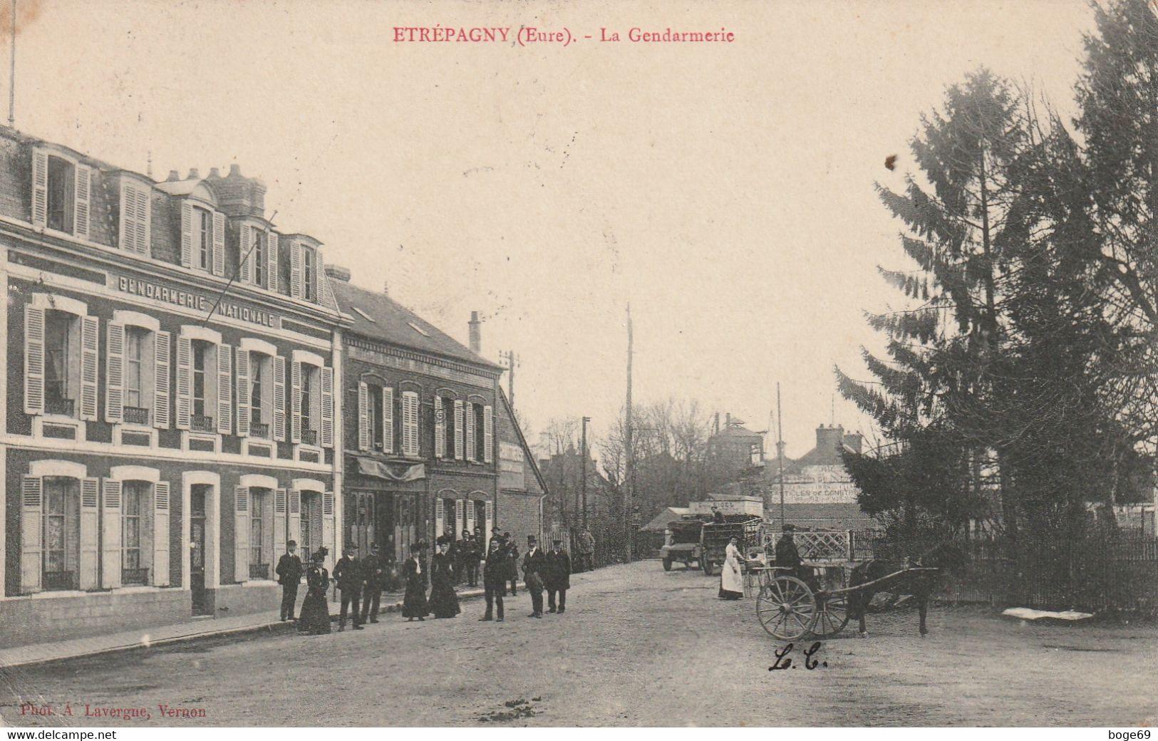 (DU 02) EURE ,ETREPAGNY,  PROVEMONT , La Gendarmerie - Autres Communes