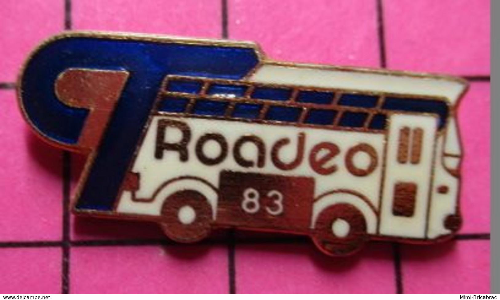113b Pin's Pins / Beau Et Rare / THEME : TRANSPORTS / AUTOBUS ROUTIER CANADIEN 1983 BUS ROADEO - Trasporti