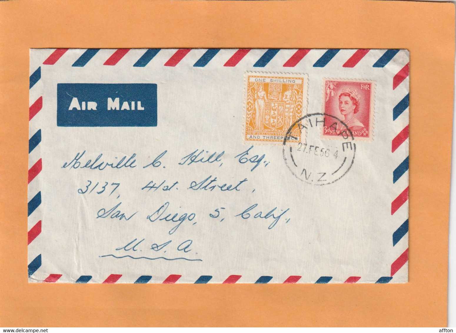 New Zealand Old Cover Mailed - Briefe U. Dokumente