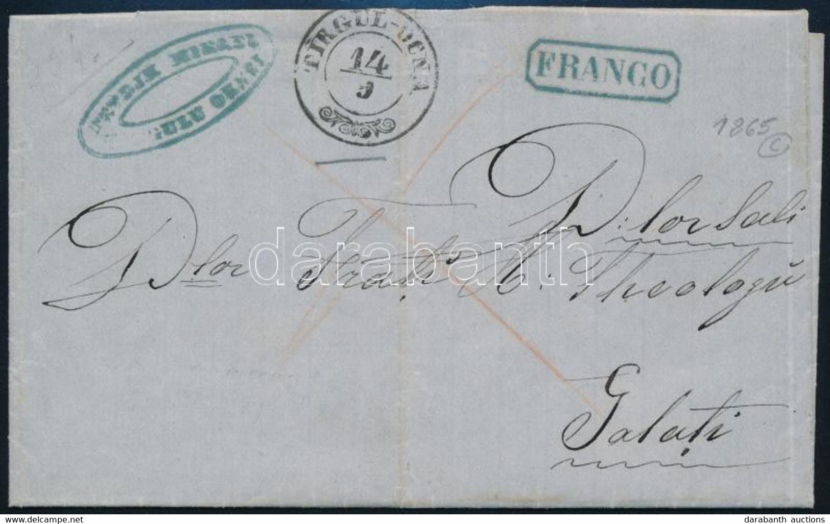 """1865 Levél Teljes Tartalommal, Készpénzes Bérmentesítéssel / Cover With Full Content And Handwritten Franking """"FRANCO"""" + - Non Classificati"""
