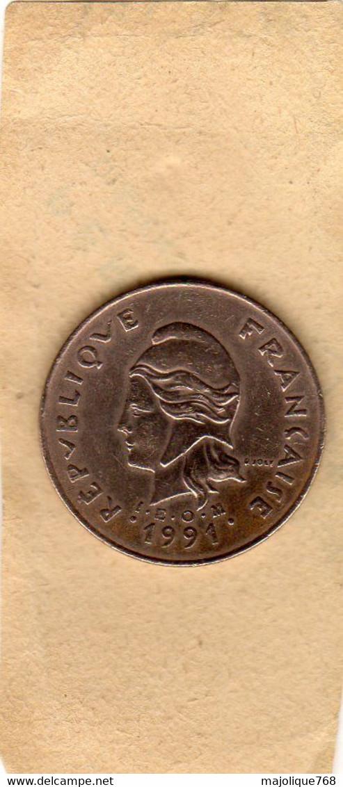 Monnaie Du  Nouvelle-Calédonie - 100 Francs 1991 En Nickel-Bronze - TTB - New Caledonia
