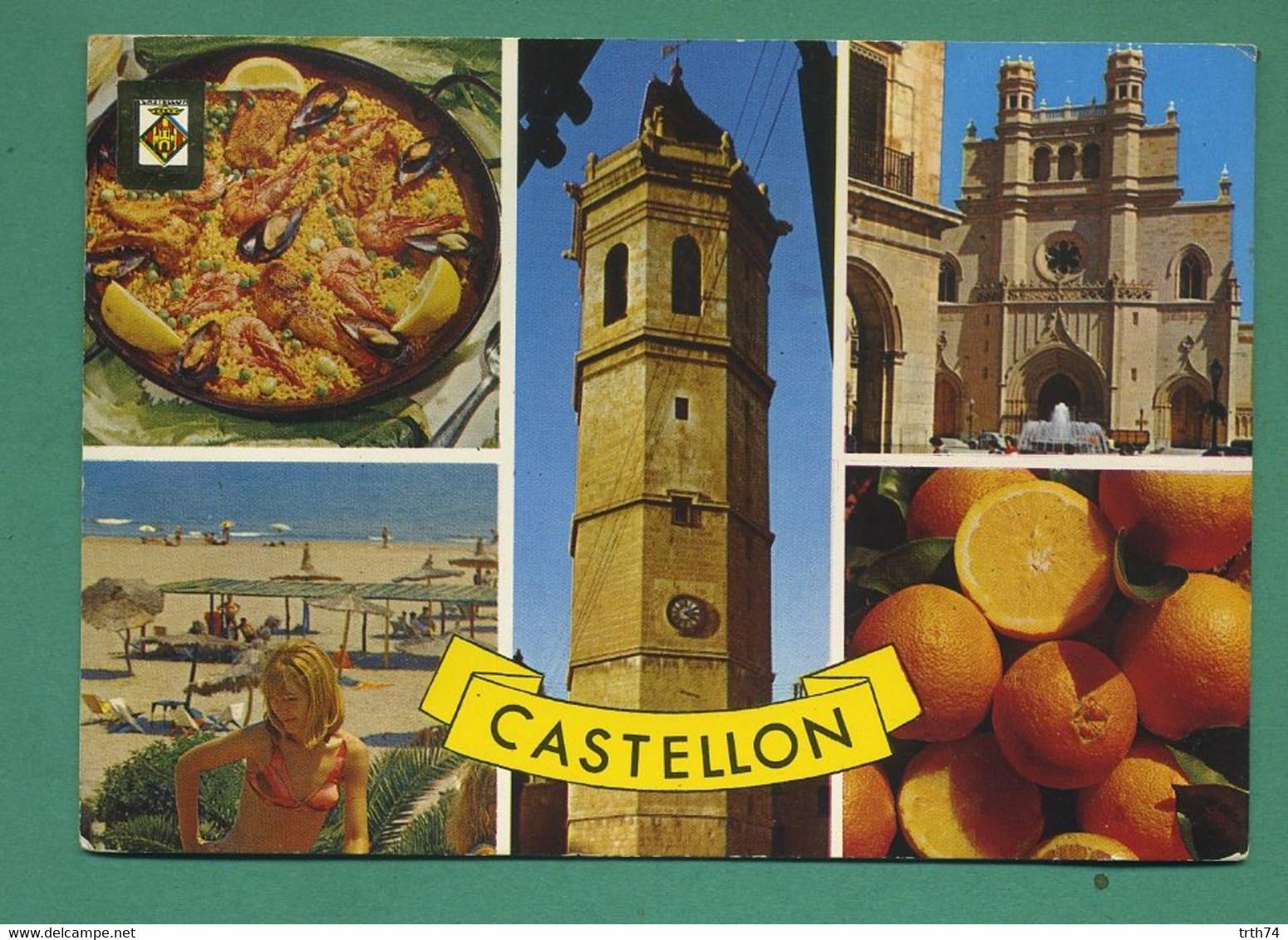 Espagne Castellon Paella, Plage, église ( Multivues, Coquillages, Moules, Langoustines, Oranges ) - Castellón