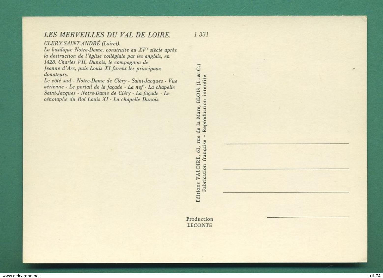 45 Clery Saint André Basilique ( Multivues, Vierge A L' Enfant, Coquillage, Shell ) - Other Municipalities