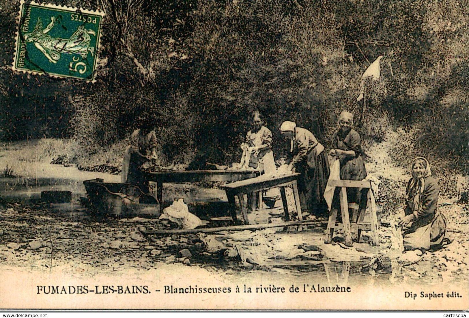 Fumades Les Bains Blanchisseuses à La Riviere De L'alauzenz ATTENTION REPRODUCTION   CPM Ou CPSM - Other Municipalities