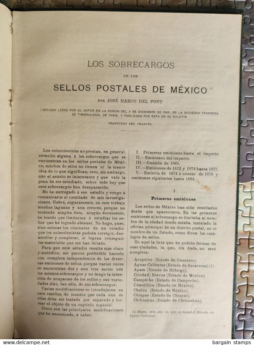 Los Sobrecargos De Los Sellos Postales De Mexico - Jose Marco Del Pont - 42p Buenos Aires 1903 Con Dedicacion Del Autor - Postgebühren