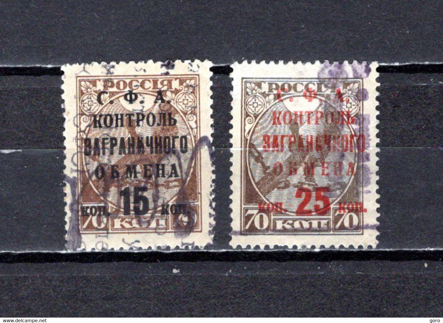 Rusia   1932  .-   Y&T  Nº    23/24   Taxa - Strafport