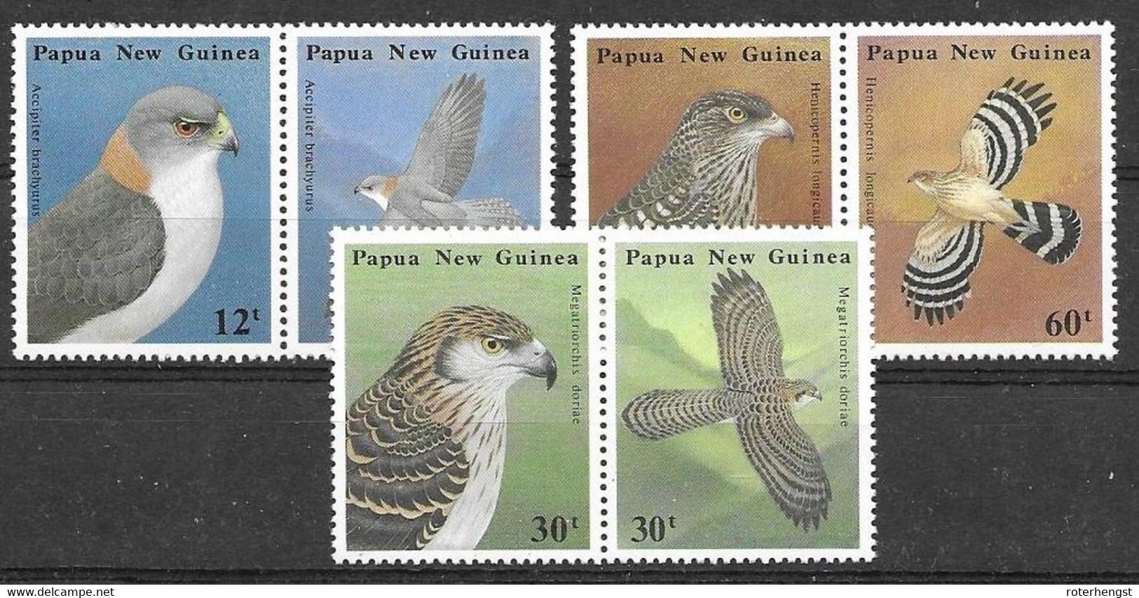 Papua Mnh** Complete Birds Set 8 Euros 1985 - Ohne Zuordnung