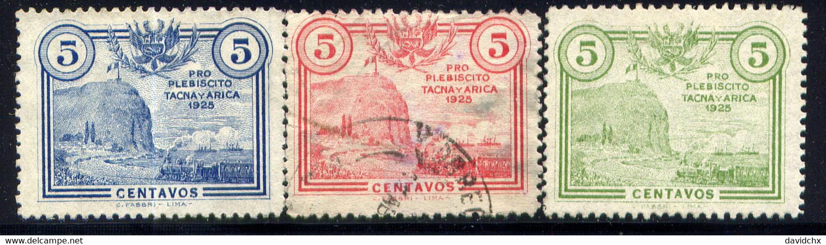 PERU, NO.'S RA1-RA3 - Pérou
