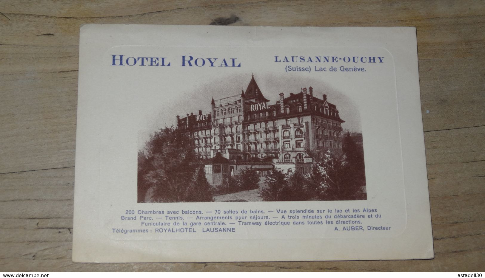 SUISSE : Hotel Royal LAUSANNE OUCHY ............. G695 - VD Vaud