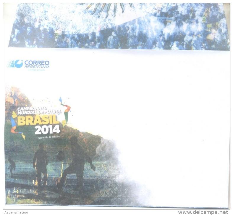 PROHIBITED FORBIDDEN BY U.P.U. DENUNCIA DE LA F.A.E.F. CAMPEONATO MUNDIAL DE FUTBOL BRASIL 2014 COMPLETE PACK ARGENTINA - Markenheftchen