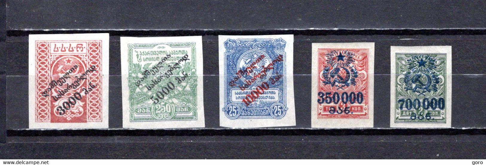 Georgia   1922-23  .-   Y&T  Nº   46/48-56/57   No Dentados    *   (c/charniere) - Georgië