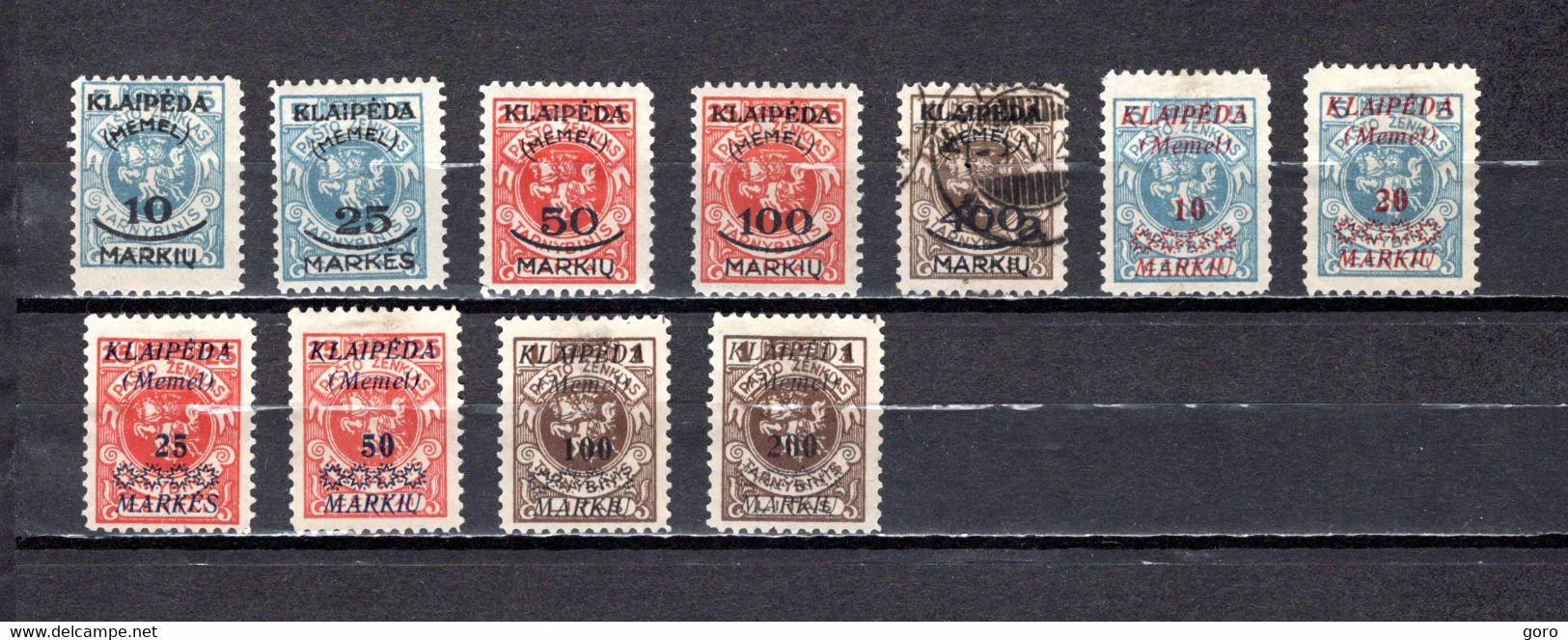 Rusia  Ocupación Lituania  .-   1923   Y&T  Nº   102/106-107/112 - Zonder Classificatie