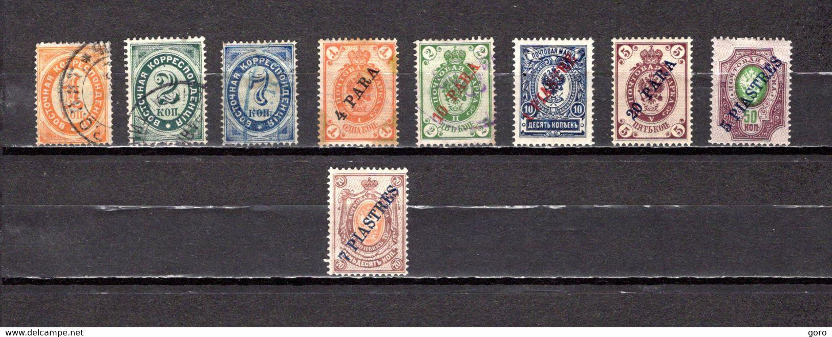Rusia  Despacho De Levante   1884-1910    Y&T  Nº    22/23-25-26/28-30-31/32 - Turkish Empire