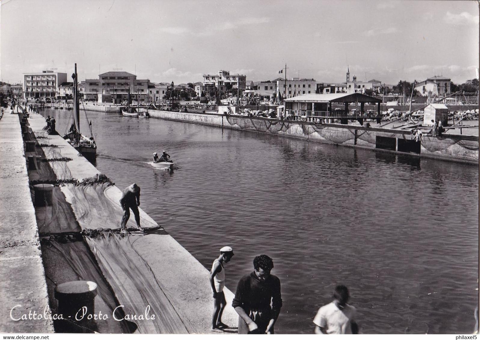 Italië - Emilia-Romagna - Rimini - Cattolica - Le Port Canal - Zwart/wit - Gebruikt - Rimini