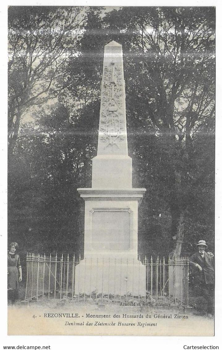 Rezonville Monument Des Hussards Du Général Zieten Denkmal Das Zietensche Husaren Regiment - Altri Comuni