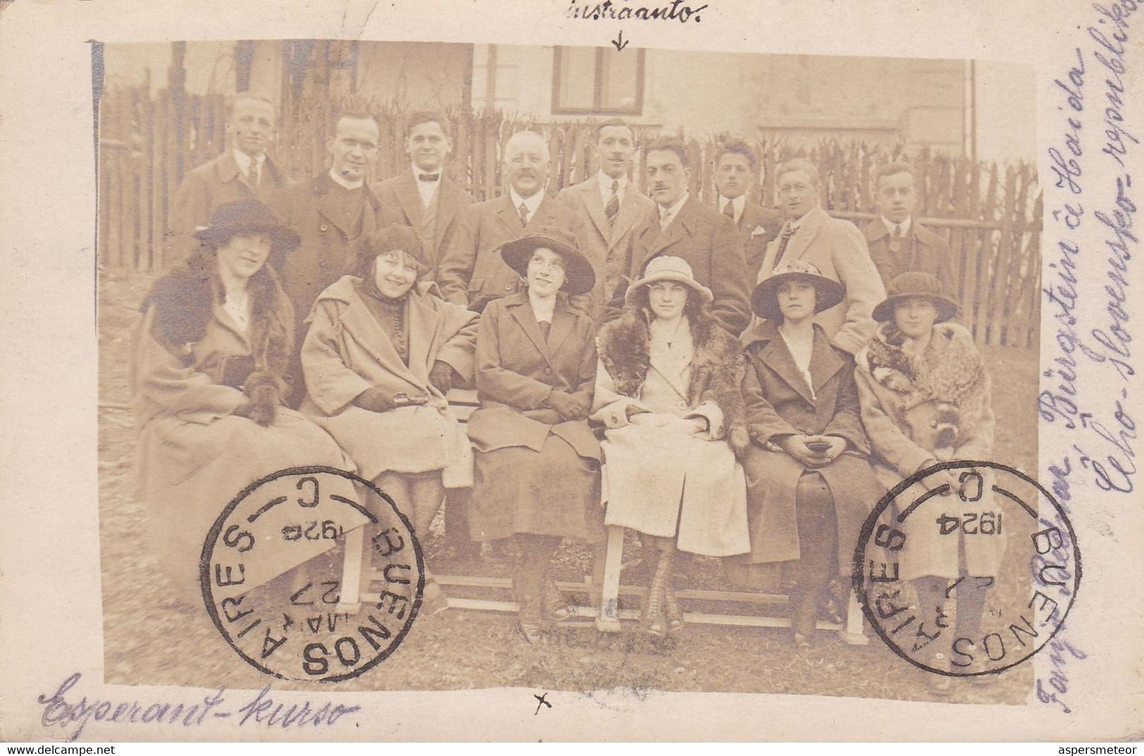 ESPERANTO. ESPERANT-KURSO, COURS ESPÉRANT. RÉPUBLIQUE SLOVAQUE, CARTE POSTALE. CIRCULEE ANNEE 1924.- LILHU - Esperanto
