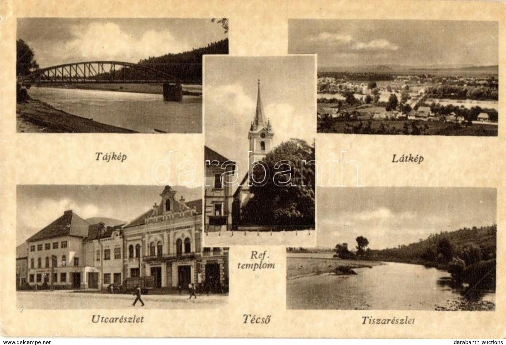 T2/T3 Técső, Tiacevo, Tiachiv; Református Templom, Utca, Tisza / Calvinist Church, Street, Tisa (EK) - Unclassified