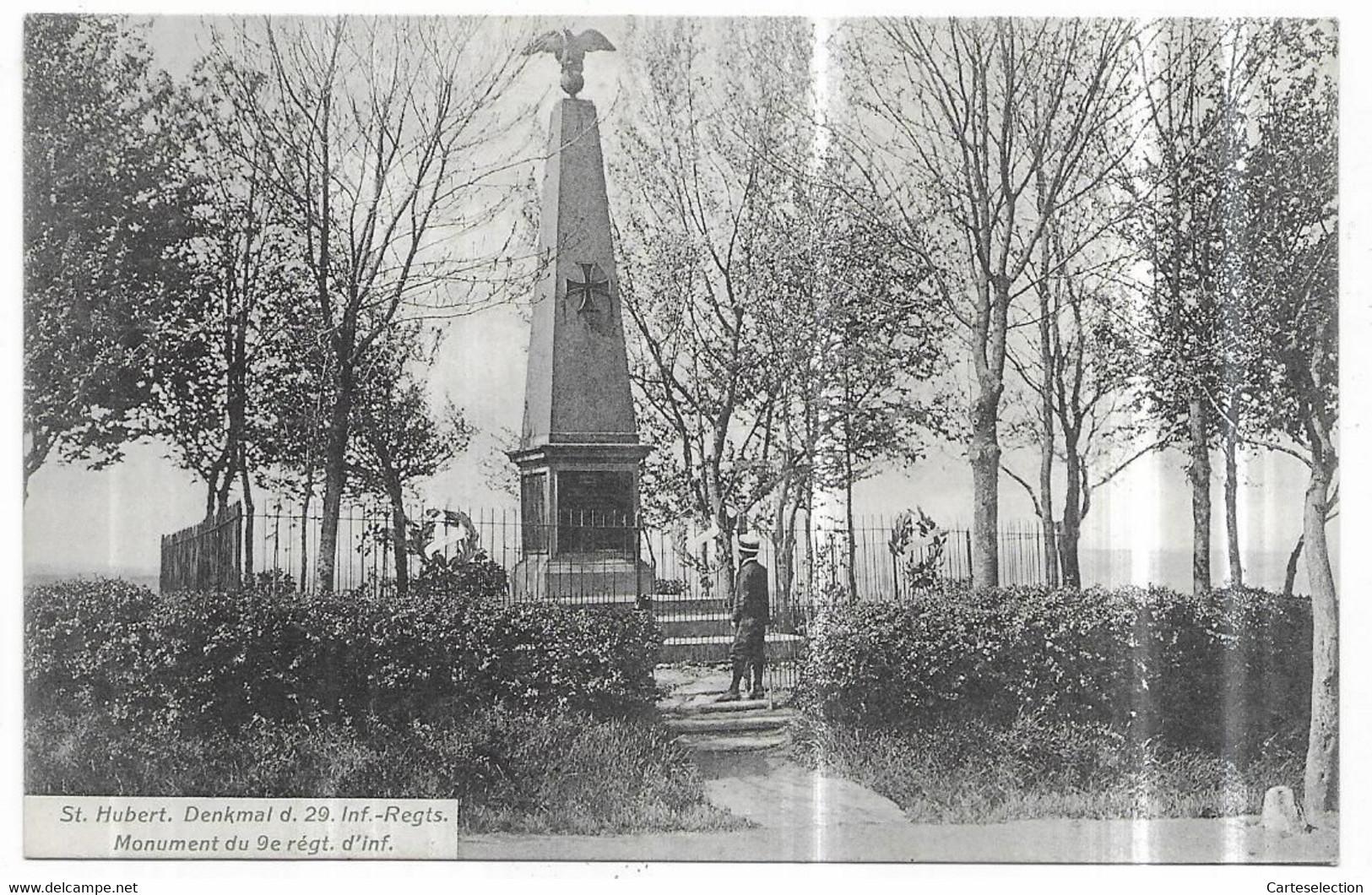 Saint Hubert Denkmal D. 29. Inf.-Regts. Monument Du 9e Régt. D' Inf. - Altri Comuni