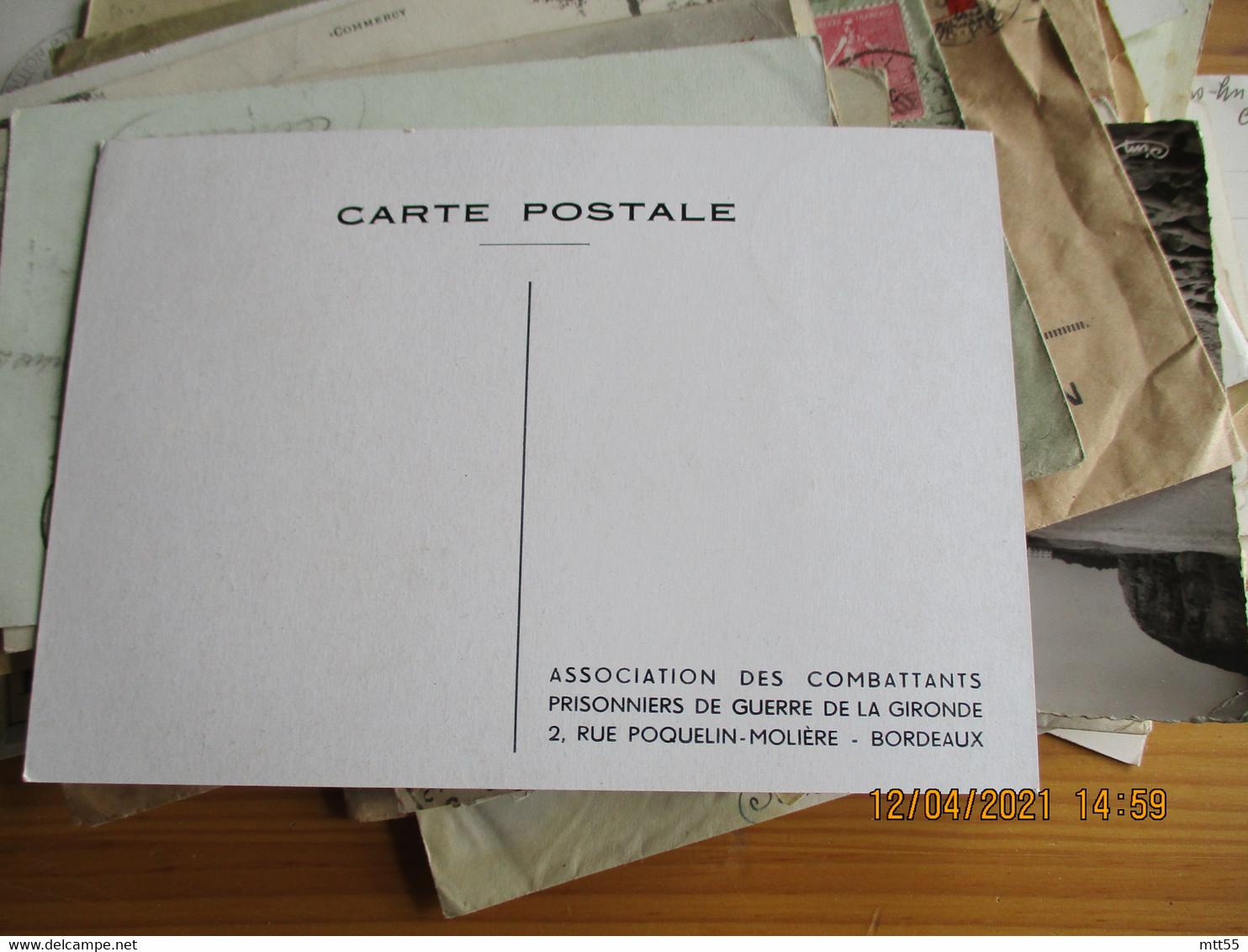 Bordeaux Congres National 10 Eme Anniversaire 1955 Obliteration Sur Carte Exposition - 1921-1960: Moderne