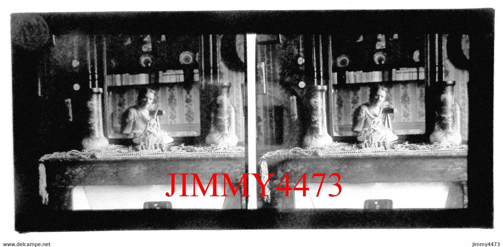 Plaque De Verre En Stéréo - Un Homme à Identifier - Taille 60 X 130 Mllts - Scans Positif-Négatif - Glass Slides