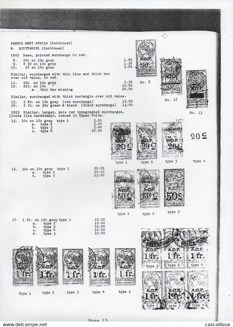 Catalogue De Timbres Fiscaux - Fiscale Zegels