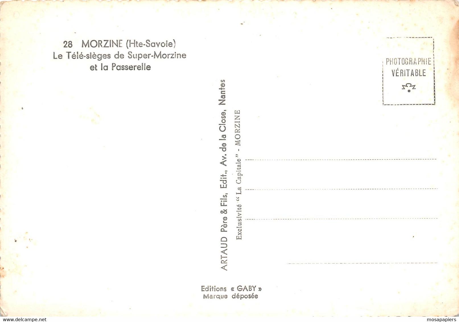 Morzine - Le Télésiège De Super-Morzine Et La Passerelle - Morzine